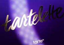 Kamenetz-Podolsky UKRAINA, Augusti 11, 2017: TARTELETTE-logo Royaltyfri Bild