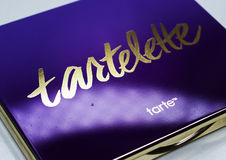 Kamenetz-Podolsky UKRAINA, Augusti 11, 2017: TARTELETTE-logo Arkivfoton