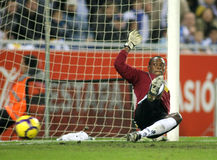 Kameni Espanyol goalkeeper Royalty Free Stock Photo