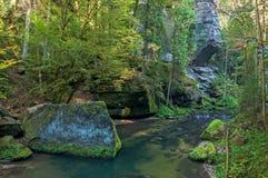 Kamenice flod royaltyfri fotografi
