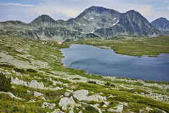 Kamenitsa Peak And Tevno lake, Pirin Mountain Royalty Free Stock Image