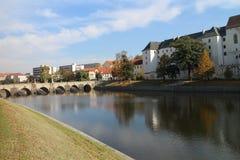 Kamennà ½ najwięcej w PÃsek - Stary most w Czeski reupblic, zdjęcie stock