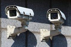 kamer cctv ochrony dwa ścienny biel Fotografia Royalty Free