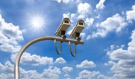 kamer cctv plenerowa ochrona Zdjęcia Stock
