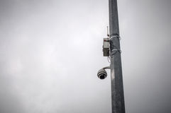 Kameraüberwachungszaun Stockfotografie