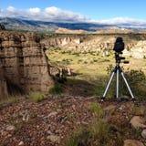 Kamera över en kanjon royaltyfria foton