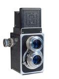 kamera 1950 isolerad s-tappningwhite Arkivfoto