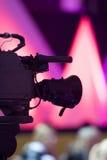 Kamera auf abstraktem Hintergrund Stockfotos