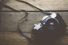 Kamera auf Tabelle Stockbilder