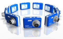 kamera błękitny układ ilustracji