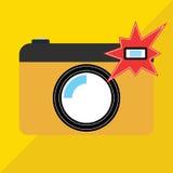 Kamera Błyskowy Aktywny wektor Obraz Stock