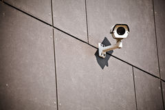 Kamera bezpieczeństwa na budynek biurowy zdjęcia stock