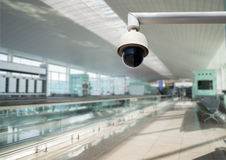 Kamera bezpieczeństwa ogląda wszystko strefy zdjęcia royalty free