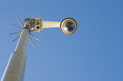 Kamera bezpieczeństwa na słupie Zdjęcia Stock