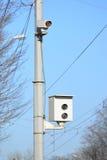 Kamera der Festlegung der Verletzung von Verkehrsregelungen Lizenzfreie Stockfotografie