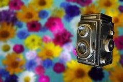 Kamera der Weinlese-35mm SLR Altes Foto Lizenzfreie Stockfotos