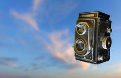 Kamera der Weinlese-35mm SLR Altes Foto Lizenzfreie Stockfotografie