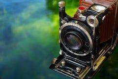 Kamera der Weinlese-35mm SLR Altes Foto Stockbild