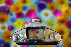 Kamera der Weinlese-35mm SLR Altes Foto Lizenzfreies Stockbild