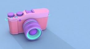 Kamera der Wiedergabe 3d lizenzfreie abbildung