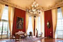 Kamera di Udienza della Regina, Reggia di Venaria Reale royaltyfri foto