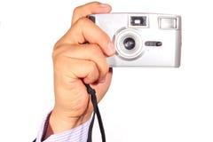 Kamera, die Fotos nimmt Stockfoto