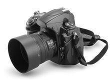 Kamera Digital 35mm Lizenzfreie Stockfotos
