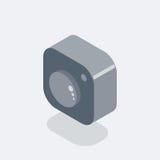 Kamera emblemat ilustracji