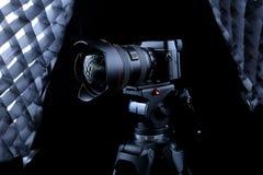 Kamera för Canon 5D fläckdropp Arkivfoton