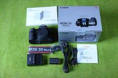 Kamera för Canon 5D fläckdropp Arkivbild