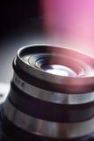 Kamera för Lens gammal kameratappning Arkivbild