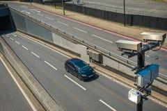Kamera för trafikkontroll Arkivbild