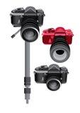 Kamera för vektorillustrationdiagram Royaltyfria Foton