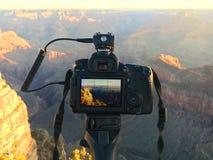 Kamera Grand Canyon royaltyfria foton