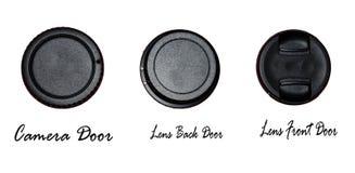 Kamera-grundlegende Türen Stockfotos