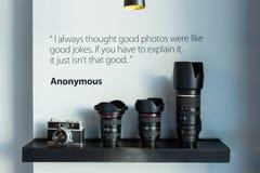 Kamera i obiektyw Obraz Royalty Free