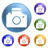 Kamera ikona ustawiający wektor ilustracja wektor