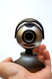kamera internetowa ręce obraz stock