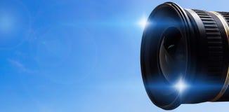 Kamera Len mit Aufflackern Stockfotos