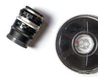 Kamera Lens och remsa för filmfilm Royaltyfri Fotografi