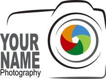 Kamera logo - kolorowa ilustracja Obraz Stock