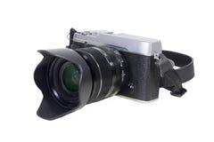 Kamera lokalisiert auf Weiß Lizenzfreies Stockbild