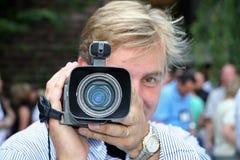 kamera ludzi Zdjęcia Stock