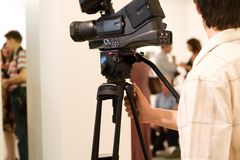 kamera ludzi Obraz Royalty Free