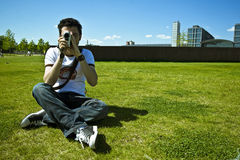 kamera ludzi Zdjęcie Royalty Free