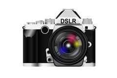 Kamera med linsen Royaltyfri Foto