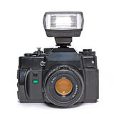 Kamera mit Blinken Lizenzfreie Stockfotos