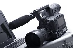 Kamera mit Mikrofon Lizenzfreie Stockfotos