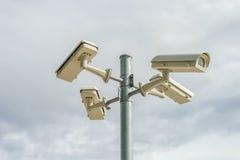 Kamera mit vier Videoüberwachung Stockfoto