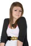 kamera nastolatek śliczny uśmiechnięty Zdjęcia Stock